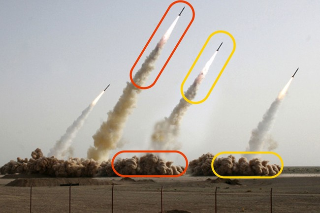 Photoshopped Iran Missile Launch