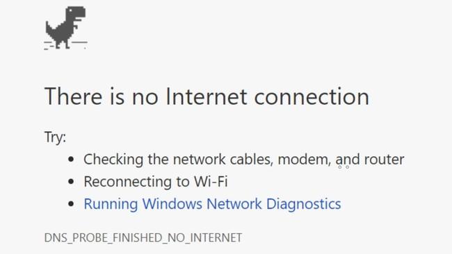 No internet